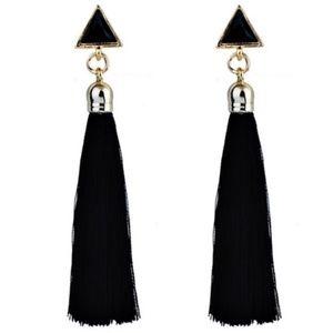 NEW Black Tassle Earrings